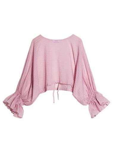 Модный топ нежного розового цвета