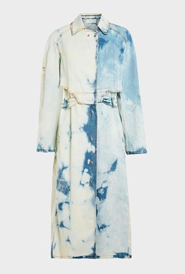 Джинсовое платье с рукавами