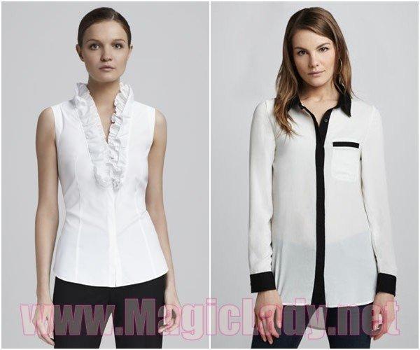 Блузки для девушек на работу работа сингапур девушки