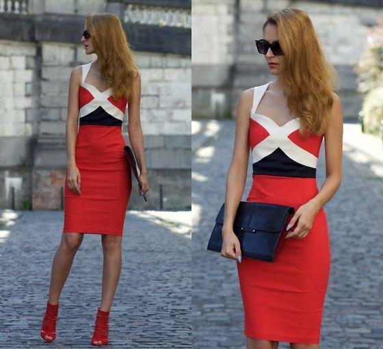968efacfd35637d С чем носить красное платье - фото модных образов | Женский журнал ...